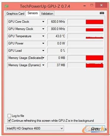 图7 HD Graphics 4600测试信息