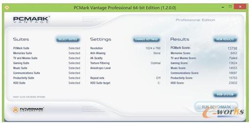 图10 PCMark Vantage性能测试