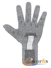 数据手套传感器分布图及编号