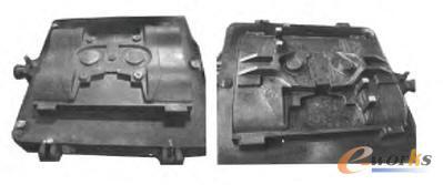 上、下型金属模具图