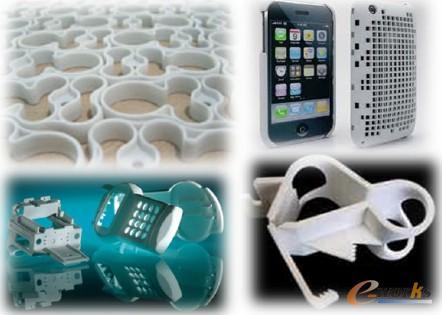 Projet 3500 塑料材料快速成型机打印的产品