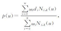 一条k次NURBS曲线定义