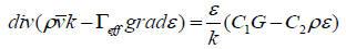 湍流动能k方程