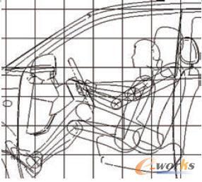 二维参数化人体模型用于车身总布置图