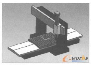 龙门五轴加工中心装配模型