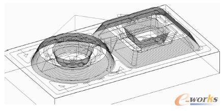 Cimatron半精加工路径模拟