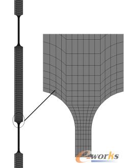 图6 弹簧片的有限元模型