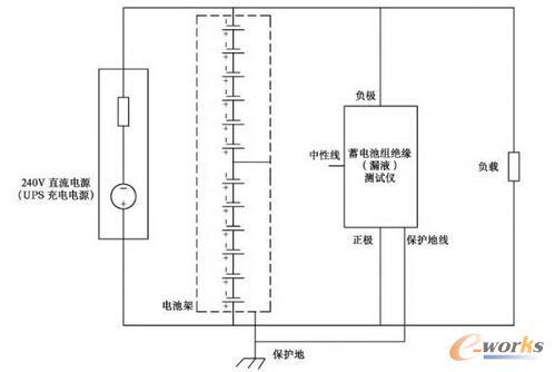 通信用240V直流系统的蓄电池漏液检测原理图