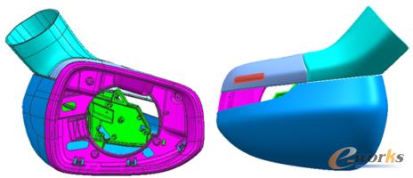 汽车后视镜镜壳注塑模设计